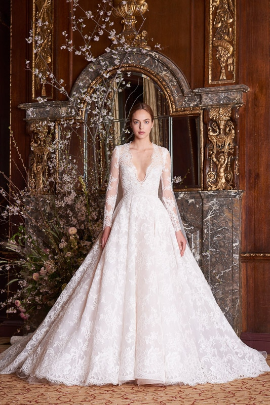 Inspiração Noiva Clássica - Monique Lhuillier New York Bridal Spring 2019 (foto: reprodução)