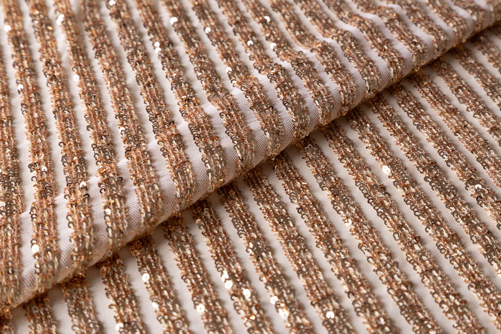 Tecido Paetê Stripes - Pétalas