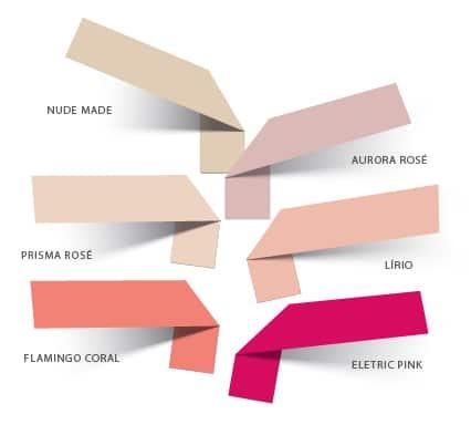 Cartela de cores da Coleção Verão21 - Pétalas